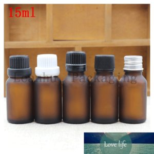 Essential Oil Bottle 15 ML Brown Ground Glass Bottle Plug Within The Flat Cover Frosted Repackaging Dilute Spot Empty Bottles