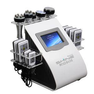40K cavitation slimming machine Vacuum RF heat body massage and ultrasonic cavitation machine with Microcurrent Brush can detox