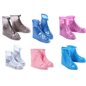 الأحذية غطاء في هطولنسي يوم للجنسين الكبار أطفال سستة في الهواء الطلق حامي ماء حامي التمهيد غطاء عالية أعلى المضادة للانزلاق الأحذية المطر الحالات YYS4016