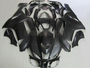Привет качество ABS сжатие всех матовый BLK пластиковые обтекатели комплект для Kawasaki Ninja ZX6R 07 08 ZX 6R комплектов 2007 2008 мотоцикла кузова тела
