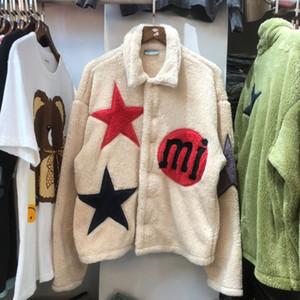 Kanye homens e mulheres marca estrela maré bordados rua jaqueta de hip-hop