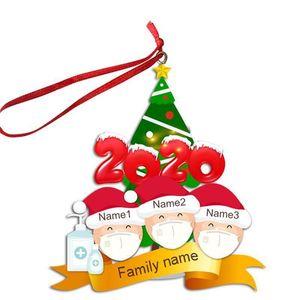 Yüz Süs Kişiselleştirilmiş Pendents Parti Aile Noel Karantina F91601 Dekorasyon Ağacı 2/3/4/5/6 Noel Hediyeleri Xmas Dubwr MA Wulx