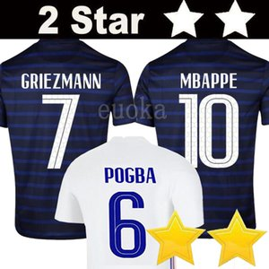 2020 Francia Mbappé Griezmann Pogba jerseys 2021 camisetas de fútbol camiseta de fútbol maillot de los hombres de pie + kit de niños
