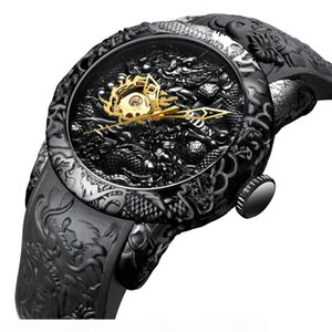 Business man watch high-grade waterproof mechanical watch quartz analogue watch dragon pattern V191116