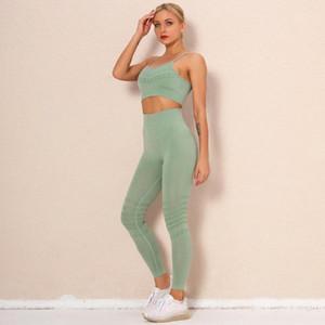 Ladies New Seamless Yoga Wear Fitness Wear Suit High Waist Sports Tights Gym Running Bra Gym Training Clothing 2-Piece Set1