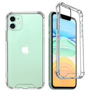 iPhone 12 11 Pro XS Max XR X 7 8 Plus Samsung S21 Note20 투명한 클리어 1.5mm 아크릴 하드 Shockproof 케이스