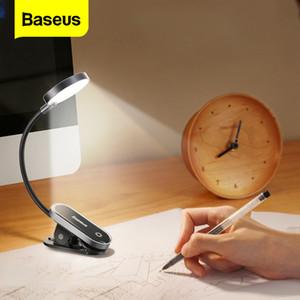 Baseus Clip Table Lamp LED Desk Lamp Flexible Touch Study Reading Lamp For Bedroom Bedside Desktop USB Rechargeable Table Light 1020