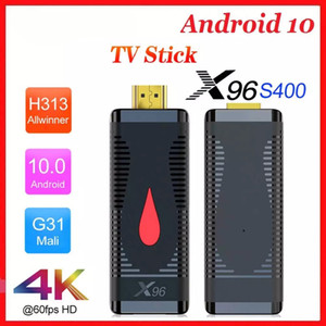 Android 10.0 TV Caixa X96 S400 TV Stick Android 10 Allwinner H313 Quad Core 4K 2.4G WiFi Media Player Youtube 2G16G TVBox Dongle