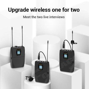 Trusiner FreeLav II Double Live Microphone Lavalier ميكروفون تسجيل UHF للهاتف الذكي DSLR خلاط PC1