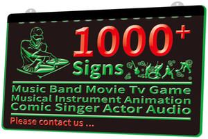 1000+ Signs Music Band Movie Tv Game Musical Instrument Animation Comic Singer Actor Audio 3D LED Light Sign Dropshipping Wholesale