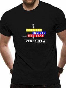 Camiseta resiste Venezuela Camisetas Quirky 2020 Algodão Criatura Homens Tshirt Hiphop Tops Padrão Clássico Anlarach Gráfico