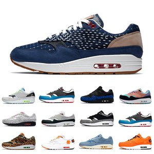 Denham Nike Air Max 1 Airmax Mach es einfach Sketch To Shelf Schema 1 Herren Laufschuhe Inside Out Script 1s Elephant Tokyo Maze Männer Frauen Sport Designer Sneakers