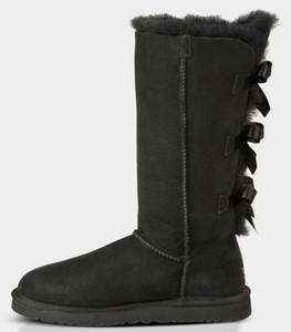 женщины зима снег сапоги Австралии классический короткий лук сапоги дизайнеруггилодыжка колено лук девушка мини Bailey ботинок Bottes де Neige р k46c #