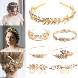 Bandas de cabelo retro moda para as mulheres casamento do metal da folha de ouro borboleta do cabelo Carneiras Meninas Noiva Cabelo Acessórios A5069