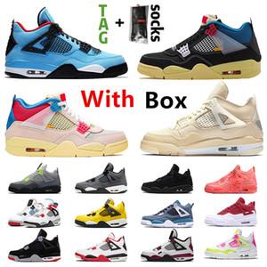 MIT Box Top-Qualität Weiß weg Segel x 4 Frauen der Männer Basketballschuhe 4s Union SatinJordanienRetro stock Cactus Jack x Turnschuhe