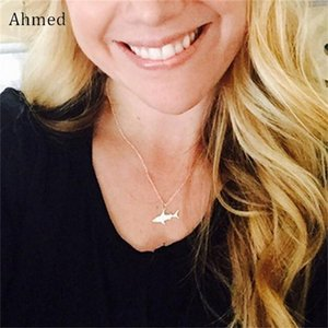 Pendant Silver Arrival For Ahmed Necklace Gold Collar White Fashion Women Shark Animal Chain New Jewelry Marine Great tsetkhE whole2019