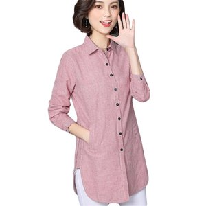 Women Striped Blouse Shirts Spring Autumn for Lady Work Long Sleeve Tops Female Fashion Clothing Blusas Plus Size New