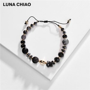 CHIAO Fashion Jewelry Natursteinfelsen-Perlenarmband justierbare Stretchable Frauen Armbänder