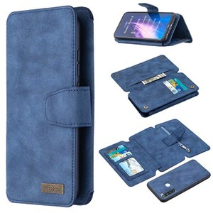NEW NEW For Xiaomi Redmi Note 8 Detachable Frosted Magnetic Horizontal Flip Leather Case with Card Slots Holder Zipper Wallet Photo Frame