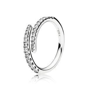 Clear CZ Diamond Shooting Star Ring Set Original Box for Pandora 925 Sterling Silver Women Girls Wedding meteor Open Rings