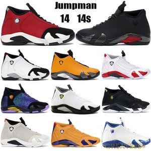 Jumpman 14 14s de los hombres zapatos de baloncesto gimnasio turbo rojo negro antracita CDP caña de azúcar de caña Atlética dulces zapatillas de deporte de la Universidad de oro Formadores