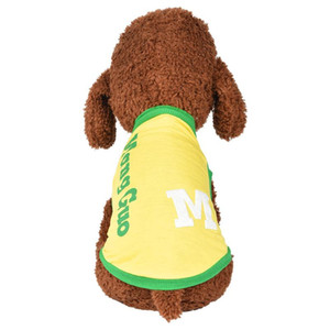 Best Selling 2020 Products New Pet Vest Sunmmer Comfortable Fashion Breathable Text Print Dog Cat Clothing Pet Vest Fashion