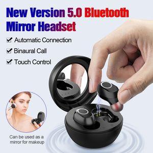 TWS écouteurs Bluetooth 5.0 sans fil Mini Oreillettes Miroir Réduction du bruit étanche tactile Gaming Headset LB-10 8D son stéréo PK F9 B5 Q32