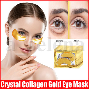 Máscaras Eye Care Colágeno Cristal Anti-papos hidratante Eye Mask Anti-envelhecimento máscaras de colágeno remendo pó olho do ouro
