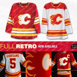 Calgary Flames 2021 Completo Jersey retro Mark Giordano Mateo Tkachuk Sam Bennett Lindholm Gaudreau Iginla Monahan Czarnik McDonald Rittich