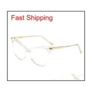 RSSELDN Vintage Eyeglasses Cornici per le donne Brand Fashion Unisex Eye Glass Blocchi per gli uomini Black Glass C Qylgri DH_Seller2010