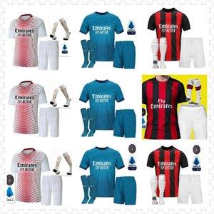 2020 AC Milan Ibrahimovic Futbol Forması Yetişkin Kiti 120th Yıldönümü Baskı Paqueta Romagnoli Piatek Futbol Gömlek Camisa AC Milan 20/21