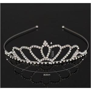 New Fashion Silver Bridal Wedding Tiara Crown Jewelry Crystal Bridal Accessories Headpiece Hair Acces sqcUMx new_dhbest