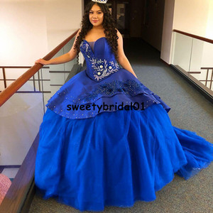 Navy Blue Princess Quinceanera Dress Sequins Applique Lace Mexicano Ball Gown Prom Dress vestidos de 15 años anos