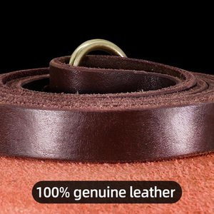 1.5m Real Leather Dog Leash Rope Pet Walking Running Leash Lead For Small Medium Large Dogs Genuine Leather Pets St bbyQea