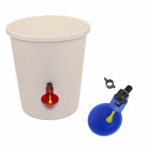 1 Pcs Frango Copo Drinking automática bebedor Frango alimentador plástico Poultry Água Potável Cups Fácil instalação com parafusos