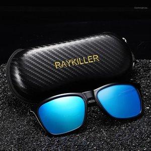 Nouveaux Lunettes de soleil Polarisées Square Raykiller pour hommes Fête Mirectrice Eyewear UV400 Conduite en plein air avec cas1