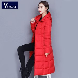 Vangull Women Winter X-long Parka Solid Casual Fashion Slim Hooded Down Cotton Jacket 2020 New Warm Basic Plus Size Thicken Coat