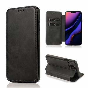 Business Flip Phone Case For iphone 12 11 Pro Max XS XR X 7 8 Plus Wallet Leather Cover With Holder Samsung S20