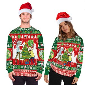 Ugly Christmas Sweater unisex Long Sleeve Sweaters Jumpers Tops 3D Funny Design Pullover Sweatshirt For Xmas Holiday Party