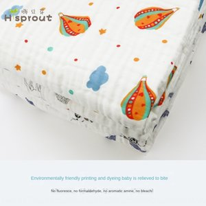 Maternal and infant supplies baby six-layer large size 120*110cm bath gauze towel quilt