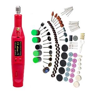Mini Electric Drill Rotary Dremel Power Tool für Holz Metall Schneiden Schleifen Polieren 148pcs Zubehör DIY Electric Pen Drill