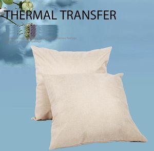 Lino en blanco Sublimación Funda de almohada Transferencia térmica Tiro de cojín Cojín Cojín Ropa para estampado de calor Casas de almohada de sofá Cubiertas F102006