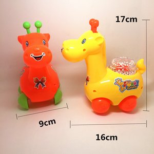 Pull line deer wind snow car cartoon car cute toy pull wire car baby puzzle pull line toy