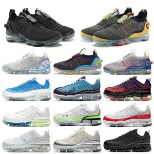 2020 XAMROPAV Punto de punto Zapatillas para hombres Mujeres Mujeres 360 Cumbre Blanco Platino Puro Gris Dark Gris Entrenadores Para Mujer Zapatillas deportivas Tamaño 36-46