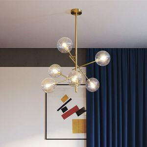 2020 Europe Modern Creative Concise Style Glass Pendant Light Glass Bubbles Study Livingroom Restaurant Cafe Decoration Lamp