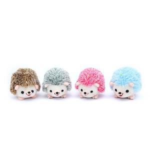 1Pcs 13CM Plush Hedgehog Toys Key Chain Ring Pendant Plush Toy Animal Stuffed Anime Car Fur Gifts for Women Girl Toys Doll