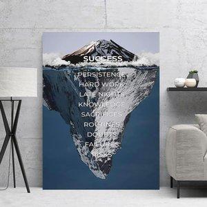 Tela di canapa di arte della parete Successo HD Prints Poster punta dell'iceberg lettera a casa Decoration Pittura Per Pictures Camera modulari