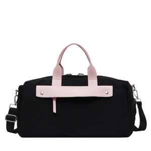 ABAY 2020 Yeni Tasarımcı Lüks Moda Taşınabilir Yoga Spor Bagaj Kısa Seyahat Çantası Bolsa Feminina LJ201116