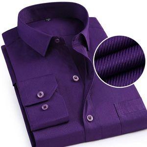 New Formal Business Men Dress Shirt Twill Social Regular-Fit Work Smart Casual Shirt Easy-care Blue White Purple Black
