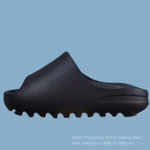 Pilz Kanye West tasarımcı Çöl Kumu Reçine Tasarımcı Terlik Yaz Moda Düz slayt kanye Slayt Kemik Erkekler WomenBeach nedensel Sandalet